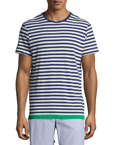 Sammy Striped Contrast-Hem T-Shirt
