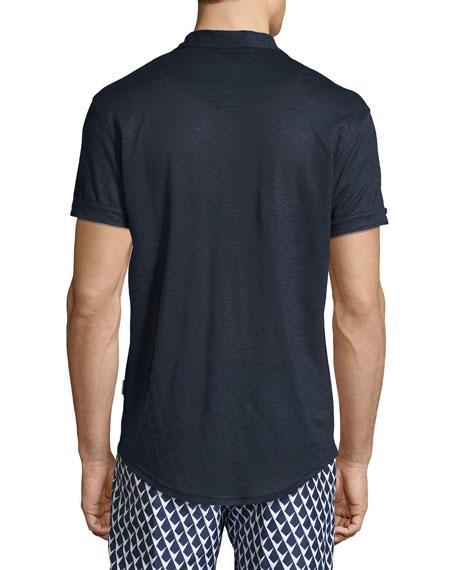 Sebastian Linen Polo Shirt
