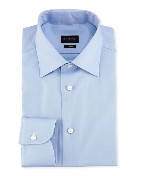 Ermenegildo Zegna Trofeo® Dress Shirt, Blue