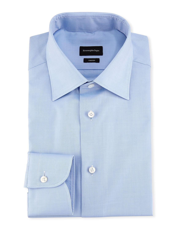 Ermenegildo Zegna Trofeo Dress Shirt Blue Neiman Marcus
