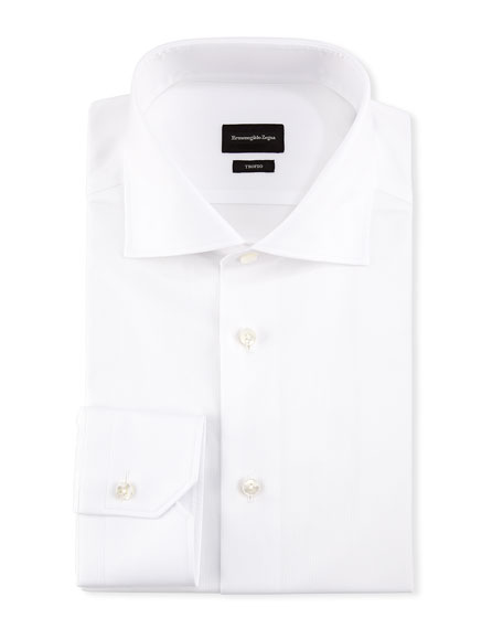 Ermenegildo Zegna Trofeo® Slim-Fit Tonal-Stripe Dress Shirt,