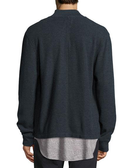 Henson Knit Shirt Jacket, Blue