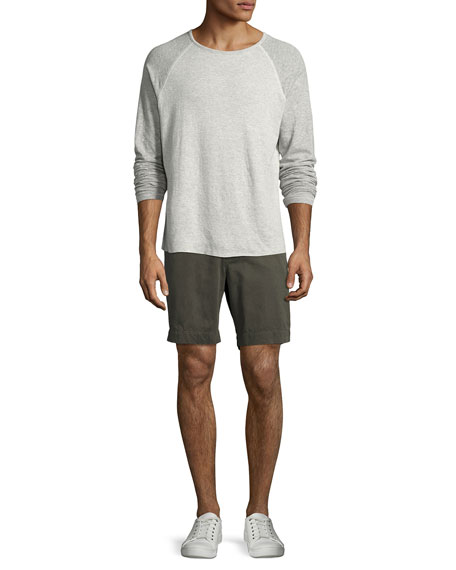 Arnold Raglan Long-Sleeve T-Shirt, Gray