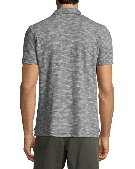 Ombre Striped Polo Shirt, Navy