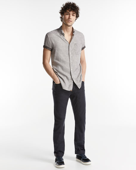 Selvedge Twill 5-Pocket Pants, Navy