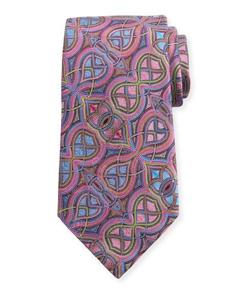 Ermenegildo Zegna Quindici Infinity Silk Tie, Pink