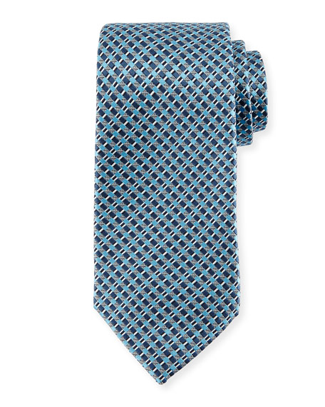 Basketweave Neat Silk Tie