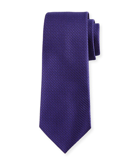 Ermenegildo Zegna Textured Solid Silk Tie, Purple