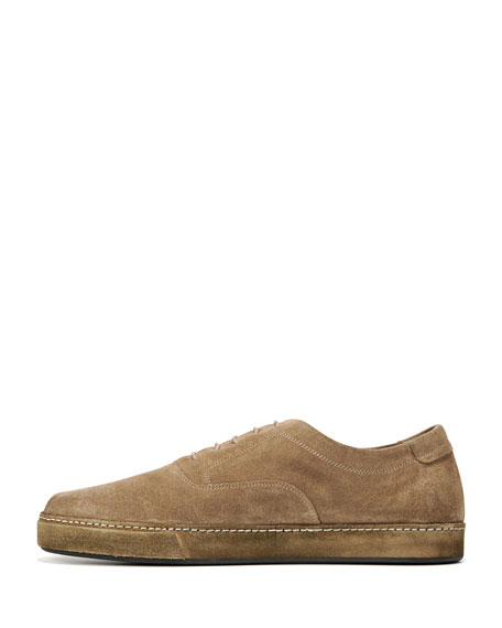Norris Sport Suede Lace-Up Sneaker, Flint