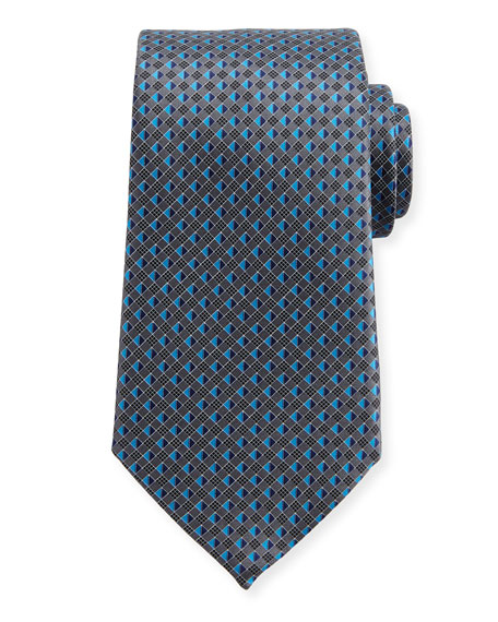 3D Micro-Diamond Neat Tie, Gray