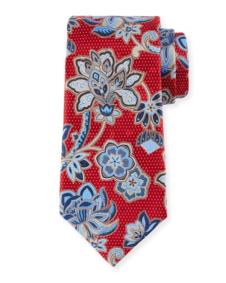 Ermenegildo Zegna 3D Paisley Floral Silk Tie