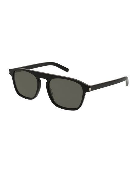 Saint Laurent SL 158 Acetate Sunglasses, Black
