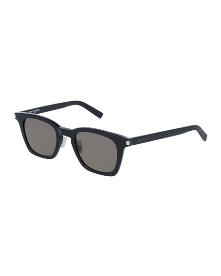 Saint Laurent Classic 138 Slim Acetate Sunglasses, Black