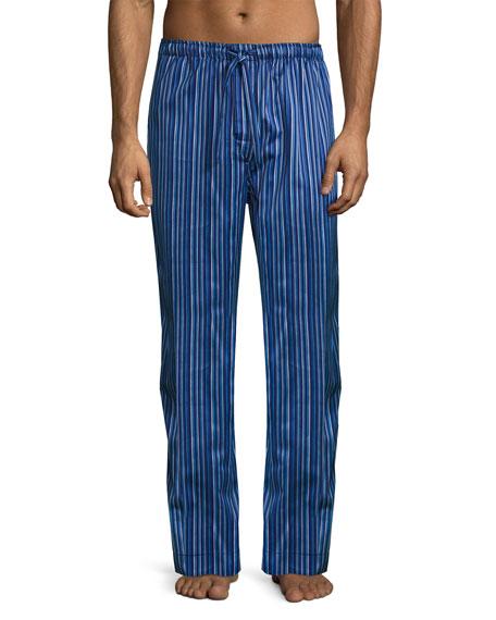 Derek Rose Satin-Stripe Pajama Pants