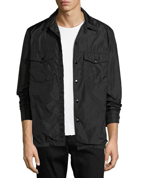 Rag & Bone Heath Nylon Shirt Jacket, Black