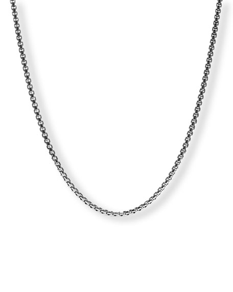 Men's Medium Box Chain Necklace, 24""
