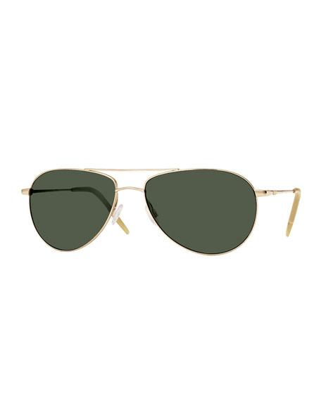 Oliver Peoples Benedict Basic Aviator Sunglasses, Gold