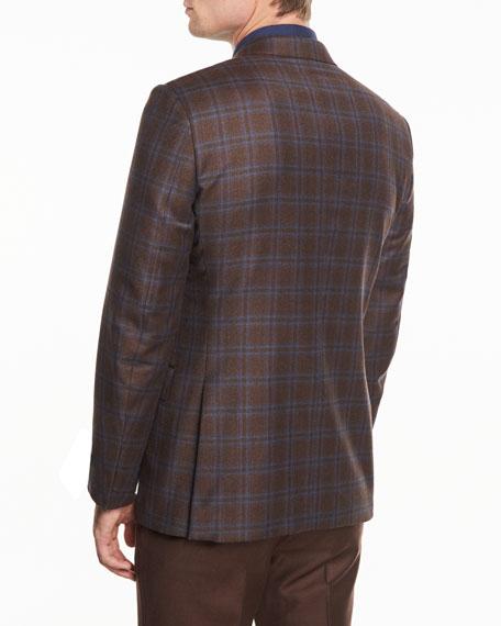 Plaid Trofeo® Wool Two-Button Blazer