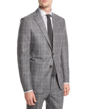 8a095246d821a Ermenegildo Zegna Wool Silk Plaid Two-Piece Suit