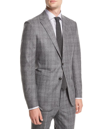 Wool/Silk Plaid Two-Piece Suit
