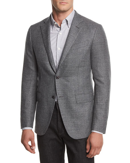 Ermenegildo Zegna Two-Button Textured Blazer