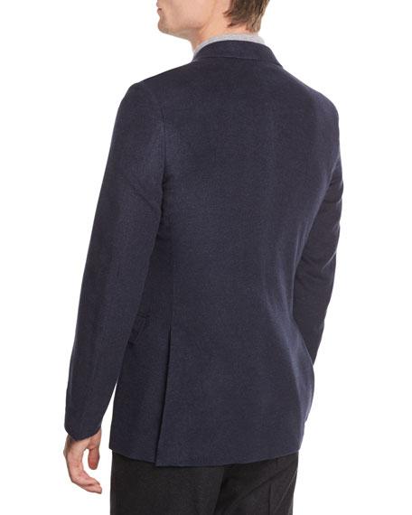 Two-Button Flannel Blazer