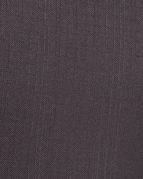 Two-Button Trofeo® Wool Plaid Suit