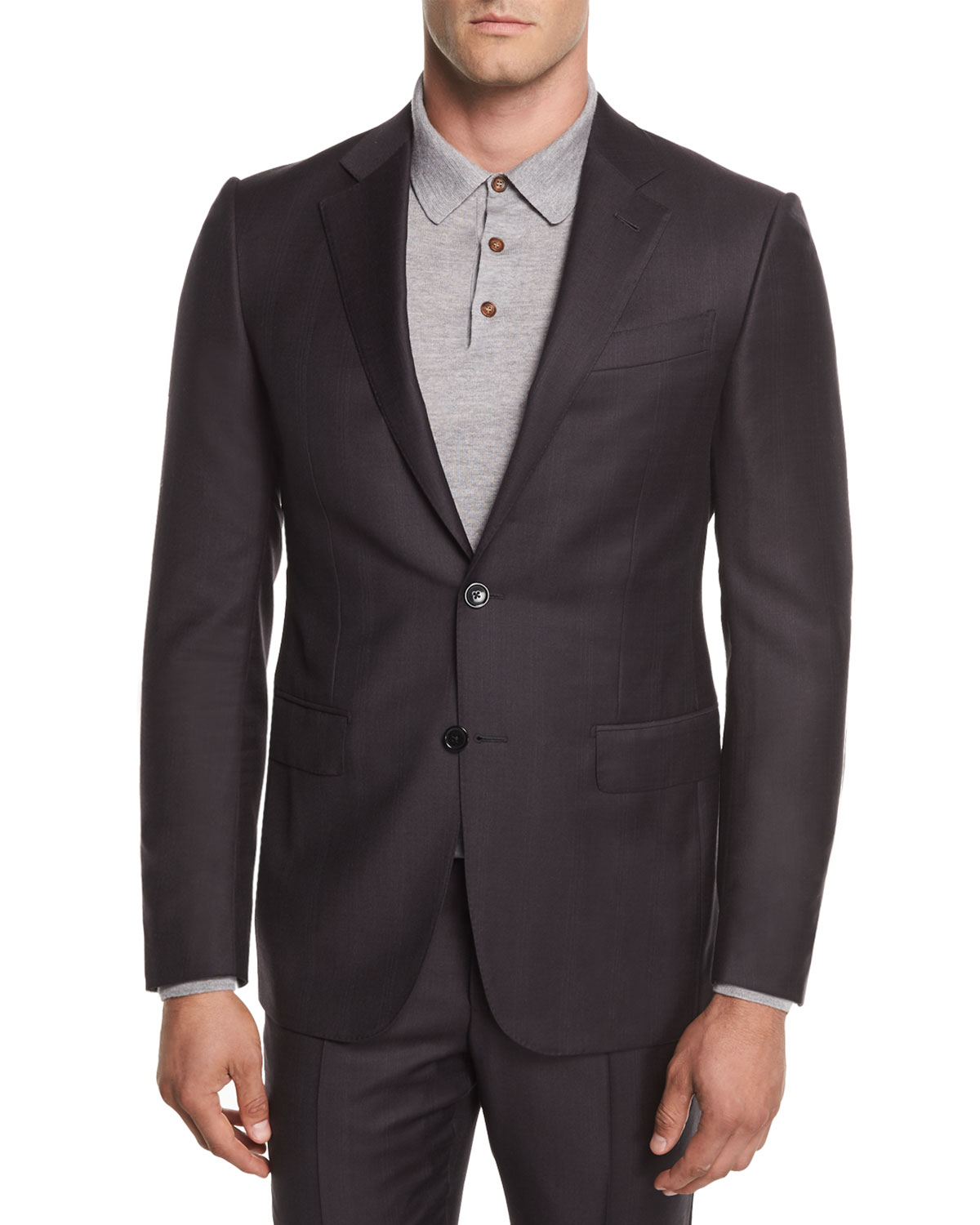 Ermenegildo Zegna Two-Button Trofeo® Wool Plaid Suit  d52f84f90aed