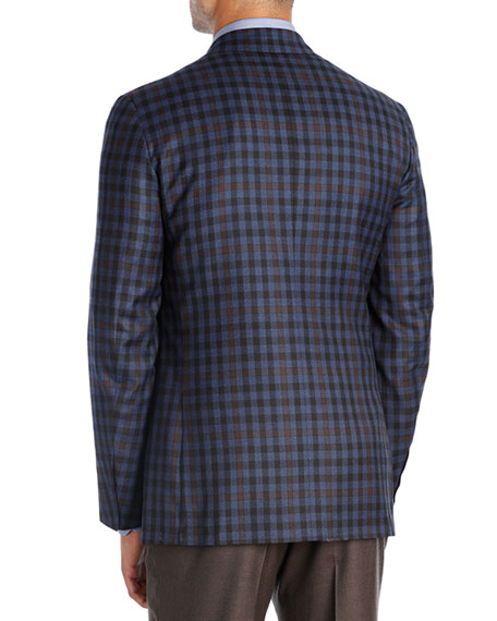 Check Super 140s Wool Two-Button Sport Coat
