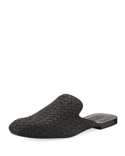 Intrecciato Leather Slipper