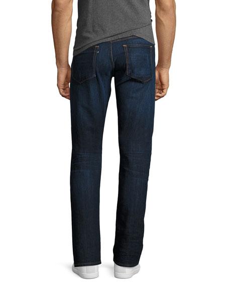 M4 Low-Rise Straight-Leg Jeans, F119