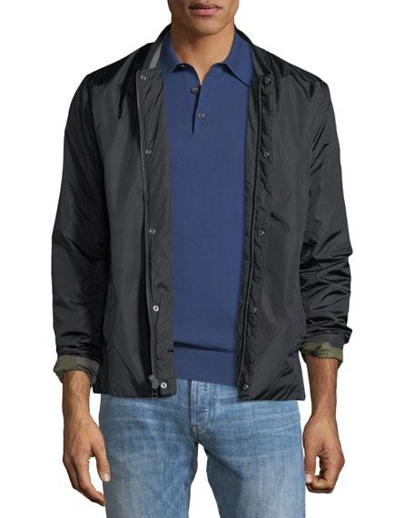 J Brand Solano Zip-Front Nylon Jacket