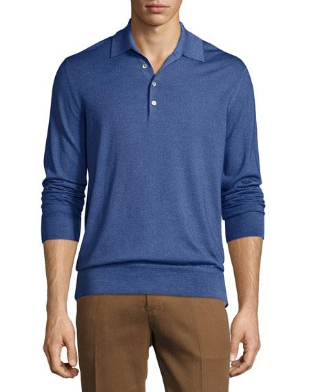 Berluti Long-Sleeve Polo Shirt