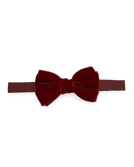 Lanvin Velvet Bow Tie, Wine