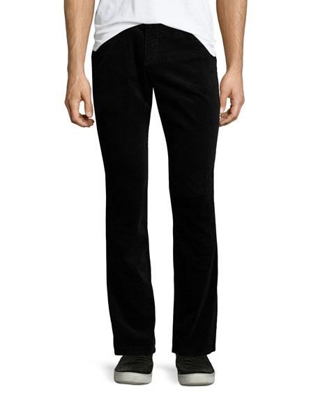 718 Slim-Fit Corduroy Pants, Black