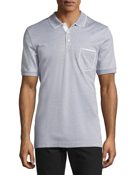 Salvatore Ferragamo Cotton 3-Button Polo Shirt with Gancini
