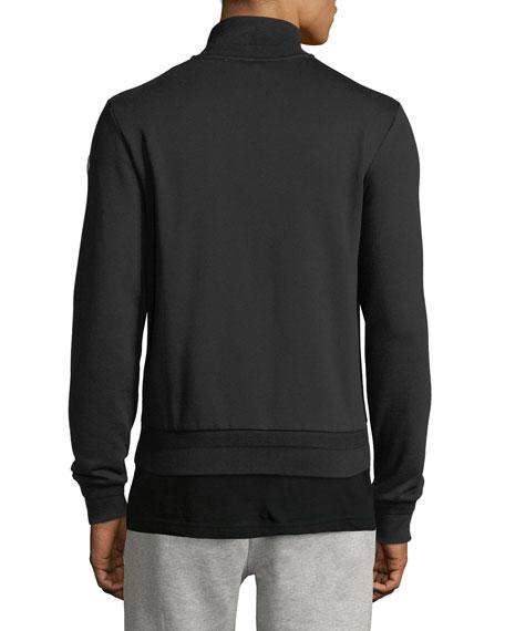 Striped-Web Zip-Front Jacket