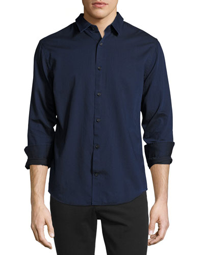 Melrose Cotton Sport Shirt, Indigo