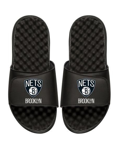 NBA Brooklyn Nets Primary Slide Sandal, Black