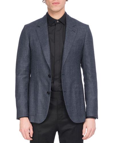 Wool-Silk-Linen Sport Coat  Navy