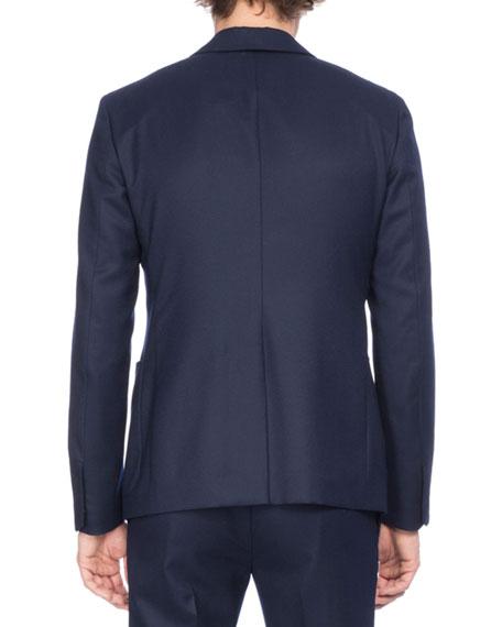Wool Suit Jacket, Dark Blue