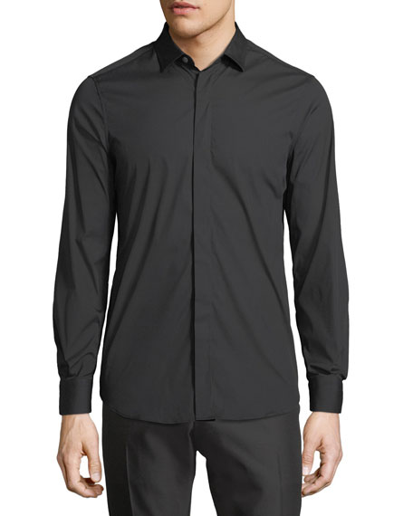 Berluti Stretch-Cotton Basic Shirt, Black