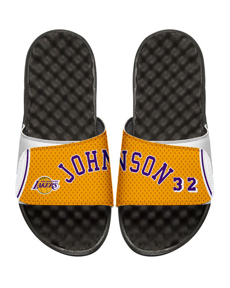 NBA Retro Legends Magic Johnson #32 Jersey Slide Sandal, White