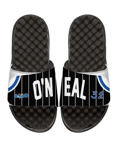 NBA Retro Legends Shaquille O'Neal #32 Jersey Slide Sandal, White