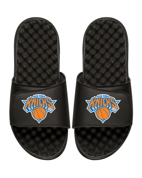 Men's NBA New York Nicks Primary Slide Sandals, Black