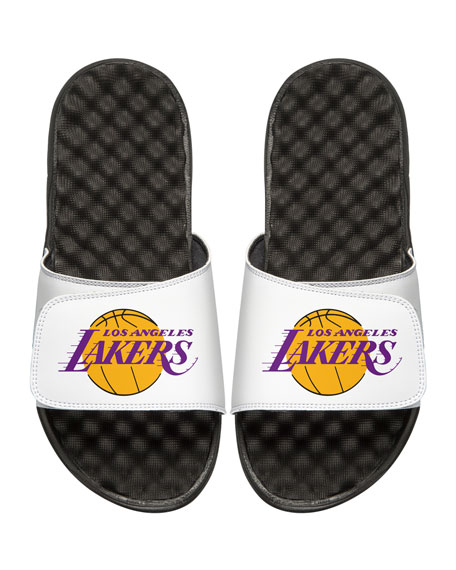 Men's NBA Los Angeles Lakers Primary Slide Sandals, White