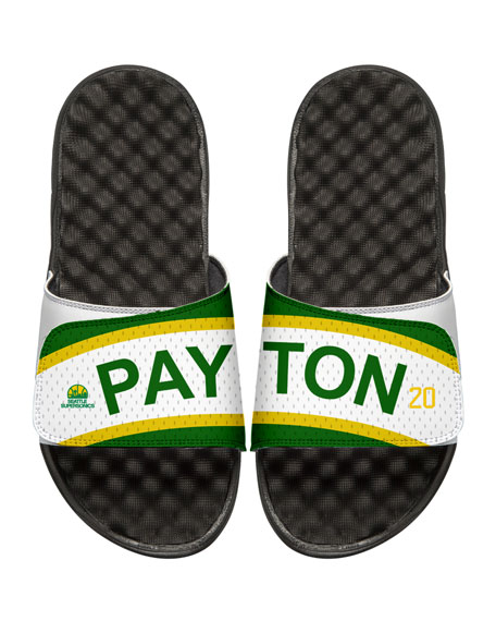 NBA Retro Legends Gary Payton #20 Jersey Slide Sandal, White