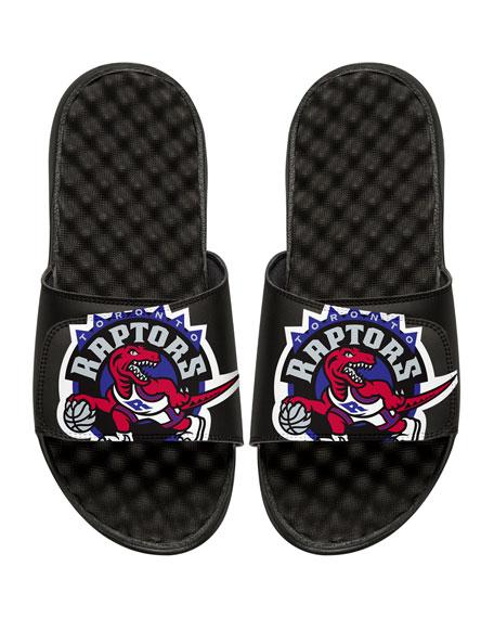 Men's NBA Hardwood Classics Toronto Raptors Slide Sandals, Black
