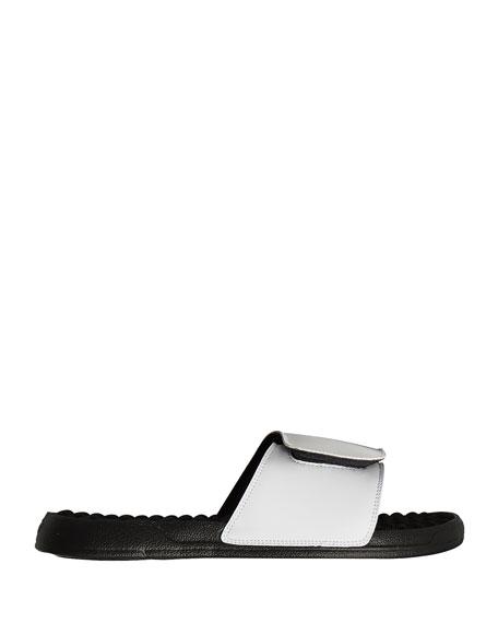 Wolf Pack Slide Sandal, White