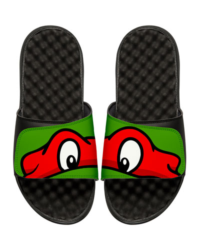 Men's Teenage Mutant Ninja Turtles Raphael Slide Sandals, Black